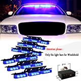 Nilight(TM) 54 x Ultra Bright Blue LED Emergency Warning Use Flashing Strobe Lights Bar For Windshield Dash Grille High quality