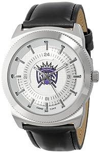 Game Time Mens NBA-VIN-SAC Vintage NBA Series Sacramento Kings 3-Hand Analog Watch by Game Time