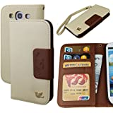 Galaxy S3 case,By HiLDA,Wallet Case,PU Leather Case,Credit Card Holder,Flip Cover Skin,Case for Samsung Galaxy SIII i9300[Brown]