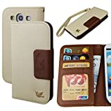 galaxy s3 case,Case for Samsung Galaxy S3,By Hilda,wallet case,Card Holder,PU Leather Case,Galaxy SIII i9300 [Brown]