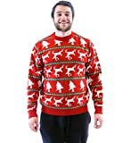 Trees and Dead Reindeers Adult Red Ugly Christmas Sweater