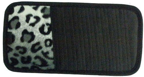 Snow Grey Leopard Animal Print 10 Cd/Dvd Car Visor Organizer front-551858
