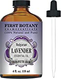 Bulgarian Lavender Essential Oil with a Glass Dropper - Big 4 fl. oz - 100% Pure and Natural Lavender Oil with Premium Quality & Therapeutic Grade - Ideal for Aromatherapy, Massages for Pain Relief, Anxiety and Stress Relief, Hair Care and Skin Care, Bug Repellent , Head aches and Migraines, Acne Treatment and more