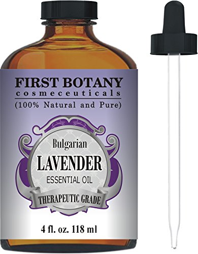 First Botany Cosmeceuticals Bulgarian Lavender Essential Oil with a Glass Dropper, 4 oz (Lavender Essential Oil 16 Oz compare prices)