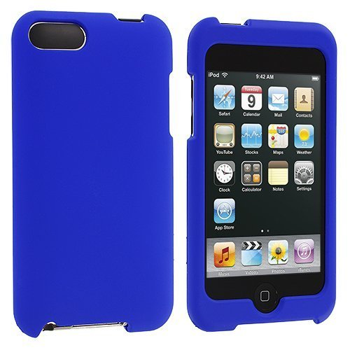 Blue Rubberized Snap-On Hard Skin Case Cover for Ipod Touch 2nd and 3rd Generation 2g 3g 2 3 8gb 16gb 32gb 64gb by Electromaster for ipod touch 6 5 black friday series hard pc cover shell style h