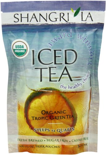 Shangri La Tea Company Iced Tea, Organic Tropic Green, 6 Count