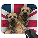 Mousepad - Border Terrier Auf Union Jack by Tanya