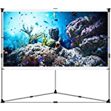JaeilPLM Flicker-free Portable Outdoor Projection Screen + Setup Stand + Transportable Bag Full Set for Camping and Recreational Events (100 Inch)
