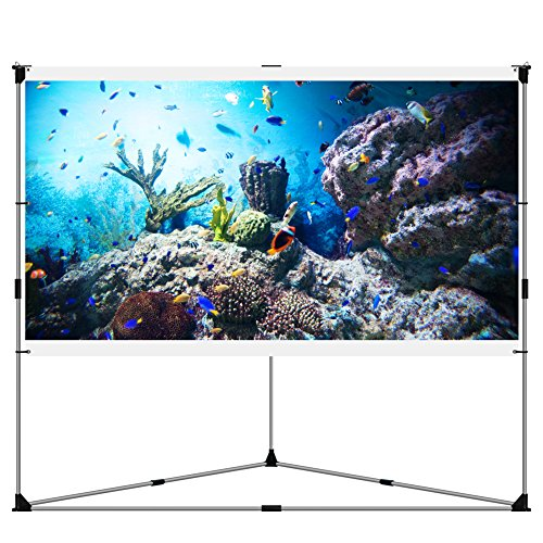Sale!! JaeilPLM Flicker-free Portable Outdoor Projection Screen + Setup Stand + Transportable Bag Fu...