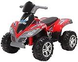 Rebo Raptor 12V Quad Bike ATV With Parental Remote (Red)