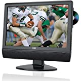 Coby TFDVD1574 15-Inch Widescreen LCD HDTV with Built In DVD Player, Black