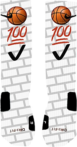Emoji Basketball Custom Nike Elite Socks (Medium 6-8) (Custom Made Nike Elite Socks compare prices)