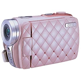 DXG USA DXG-535VP HD Riviera 720p High-Definition Camcorder Luxe Collection, Pink