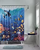Amazon.com: Ocean Blue Tropical Fish Vinyl Shower Curtain - 70 in