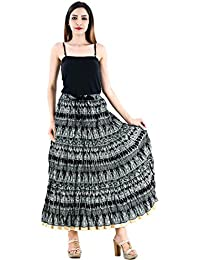 Shop Hatke Now Latest 2017 Jaipuri Regular Fit Black Full Long Cotton Skirt 175