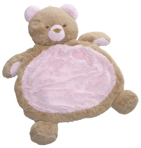 Mary Meyer Bestever Baby Mat, Pink Bear back-890301