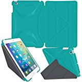 iPad Mini 4 Case, rooCASE Origami 3D Ultra Slim Fit Lightweight Smart-shell Stand Cover Case [Landscape, Portrait, Typing Stand] Auto Wake / Sleep for Apple iPad Mini 4 2015 7.9 inch iOS Tablet, Blue