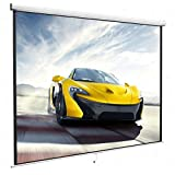 100 16 9 Home Movie Manual Projection Screen Pull Down Projector Matte White