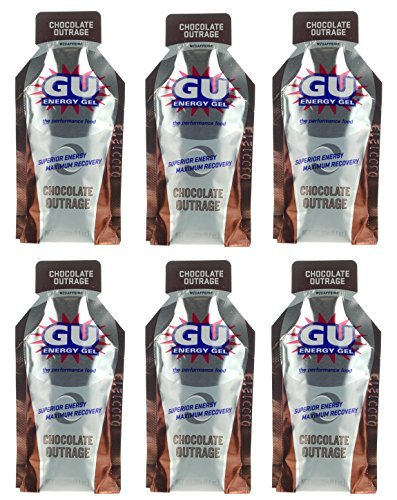 GU Energy Gel - Chocolate Outrage (6 x 1.1oz Packs) (Energy Chocolate Chews compare prices)