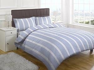 Textiles Direct Chevron Single printed Duvet Cover Set, Blue