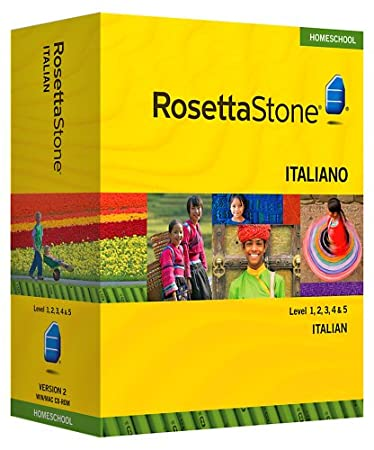 Rosetta Stone Homeschool Italian Level 1-5 Set including Audio Companion