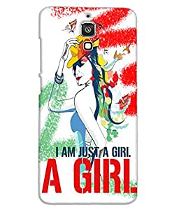 Fuson Style Girl Back Case Cover for XIAOMI MI 4 - D3660