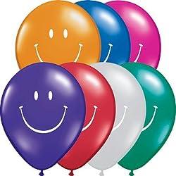 5 Smile Face Asst. Jewel Tone