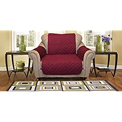 Reversible Furniture Protector Premium - Protects furniture from stains, spills, pets and children accidents (Chair, Burgundy/Taupe)
