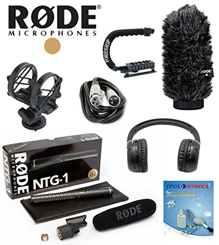 Rode Ntg1 Ntg-1 Ntg I W/ Rode Sm3, Xlr Cable, Rode Ws6 Windshield, Foregrip Handle, Bluetooth Headphone
