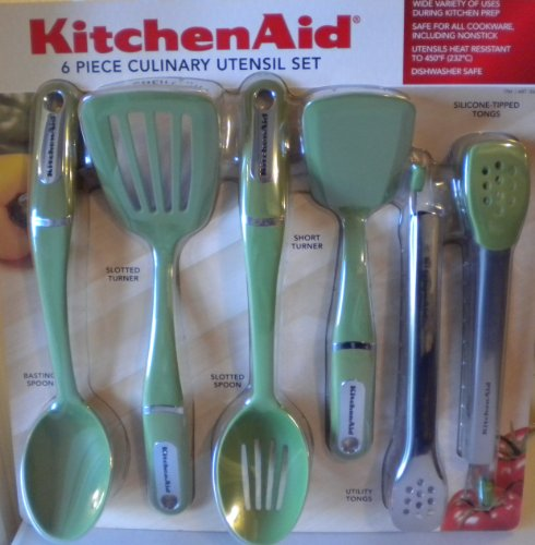 Green Cookware Set Cheap Kitchenaid Cooks 6 Piece Culinary Utensil Set Green Pack Of 6