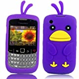 Chicken Silicone Case Cover Shell For Blackberry Curve 8520 3G 9300 / Purple