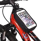 ArcEnCiel JAPAN自転車フレームバッグ 5.5インチフロントバッグ iPhone6/6S対応 (黒)