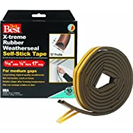Thermwell Products Co. V25BADB EPDM Rubber Weatherstrip Tape