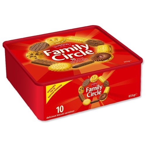 Crawfords Family Circle Biscuits Re-sealable Box 900g Assorted Ref A07001