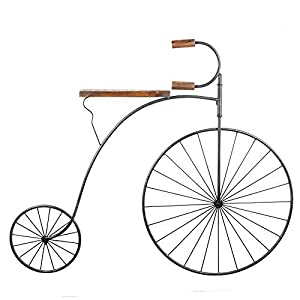 Large Penny Farthing Vintage Bicycle Metal Home Decor Wall Art Feature