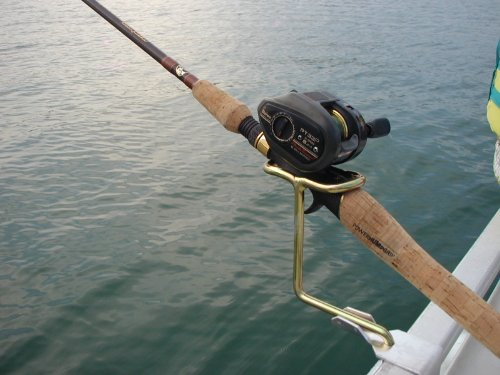 Pontoon boat rail fishing rod holder new ebay for Fishing pole holders for boats