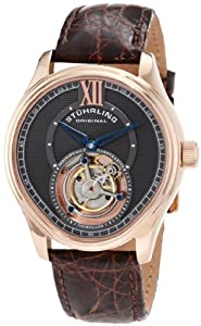Stuhrling Original Men's 361.334K54 Tourbillon Everest Limited Edition Mechanical Brown Watch
