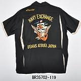 Buzz Ricksons バズリクソンズ BR35702 NAVY ボーリングシャツ (L, 119ブラック)
