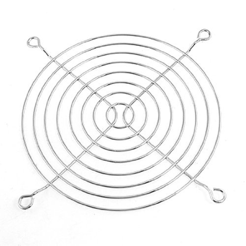 5 Pcs Silver Tone Axial Fan Grill Protector 12cm Metal Finger Guards