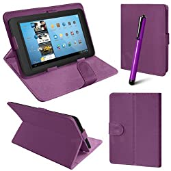 2010kharido Universal Leather Smart Case Cover Stand for all 7 inch Tablet Purple
