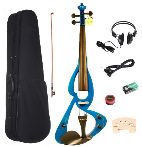 Barcelona Beginner Series Electric Violin with Hardshell Case and Accessories - Blue