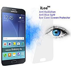 iLee Anti Radiation Eye Care Premium TEMPERED Glass Screen Protector For SAMSUNG GALAXY A8