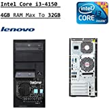 Newest Lenovo ThinkServer TS140 Flagship Tower Server Desktop | Intel Core I3-4150 Dual-Core | 3.50 GHz | 4GB RAM Max To 32GB | DVDRW | No Operating System (Black)