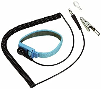 "Wearwell PVC 793 Coil Cord with Wrist Strap, 6' Length x 3/8"" Thickness"