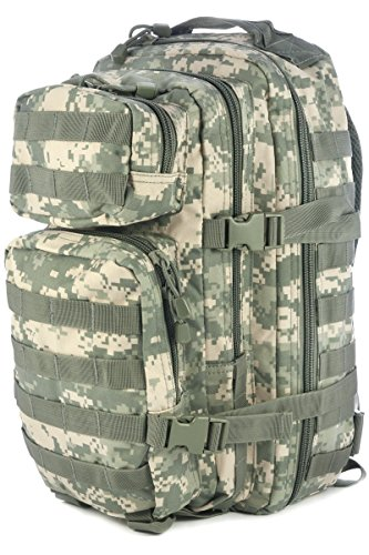 Mil-Tec Military Army Patrol Molle Assault Pack Tactical Combat Rucksack Backpack Bag 20L ACU Digital Camo