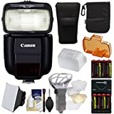 Canon Speedlite 430EX III-RT Flash + Soft Box + Diffuser + Batteries/Charger Kit for Rebel T5, T5i, T6i, T6s, EOS 70D, 7D, 6D, 5D Mark II III, 5Ds R