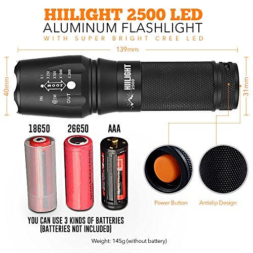 die beste hiilight led taschenlampe 2500 cree xm l t6. Black Bedroom Furniture Sets. Home Design Ideas