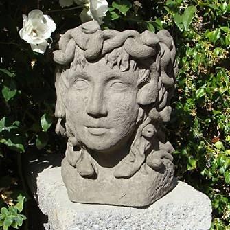 Medusa head planter antique grandin road antique garden urns - Medusa head planter ...