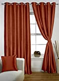 Lushomes Maroon Twinkle Star Curtain with Blackout Lining for Long Door