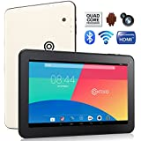 "Contixo Q102 10.1"" Quad Core Google Android 4.4 KitKat Tablet PC, 1GB RAM, 16GB Nand Flash, Bluetooth, Dual Camera, HDMI, Google Play Pre-installed, 3D Game Supported, 2014 Newest WHITE Model"